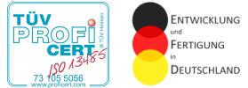 Logo Entwicklung Fertigung Made in Germany und ISO 13485